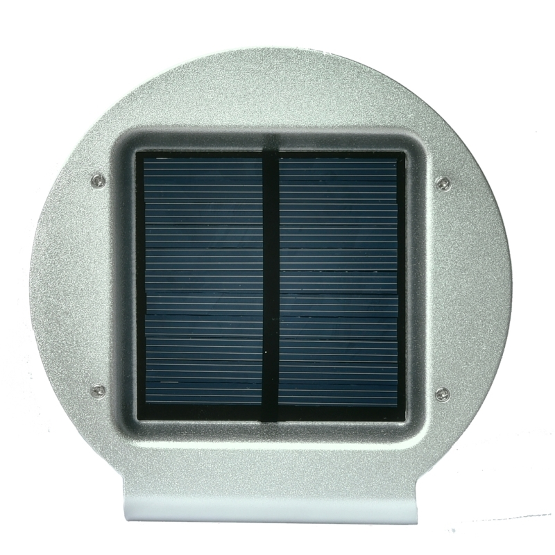 HBT-1605 5.5V 0.55W 260 LM 16 LEDs SMD 2835 Radar Sensor Solar Motion Sensor Wall Light with Solar Panel and Hidden Switch for Garden / Courtyard / Outdoor Camping (Silver)