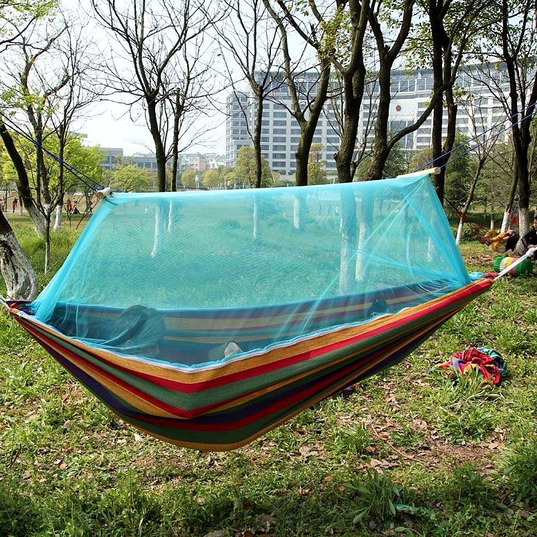portable travel hammock mosquito home net camping fabric products hangmat outdoor indoor hiking beach garden parachute backpacking bed