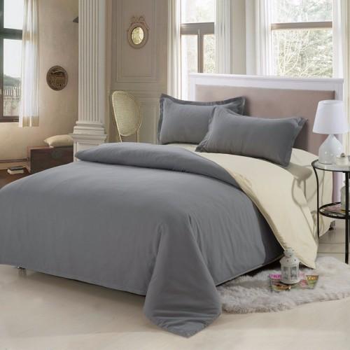 4Pcs Solid Color Bedding Set Duvet Cover Sets Bed Linen Bed Sets Include  Bed Sheet Pillowcase