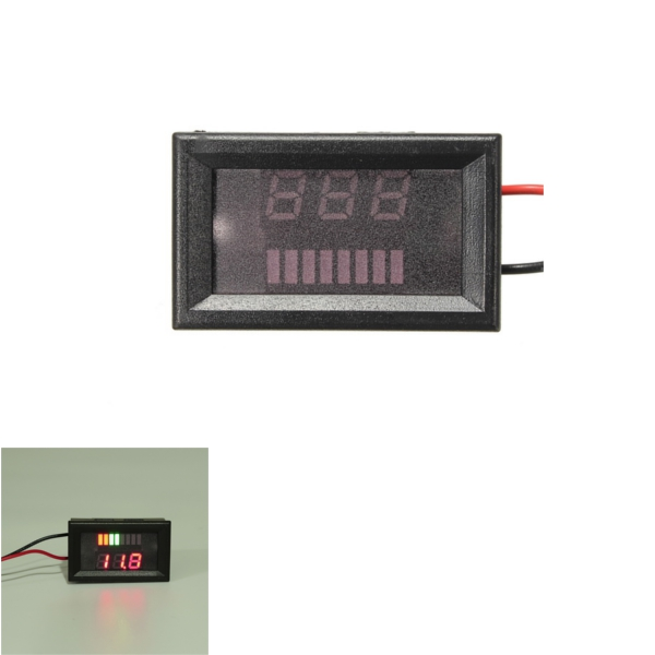 Dc 12v36v48v rectangle digital display voltmeter meter for for 1201 salon dc reviews