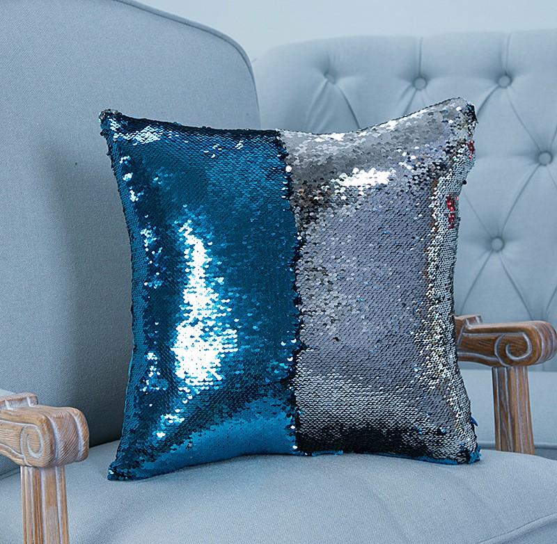 Reversible Sequin Mermaid Pillowcase Magical Color