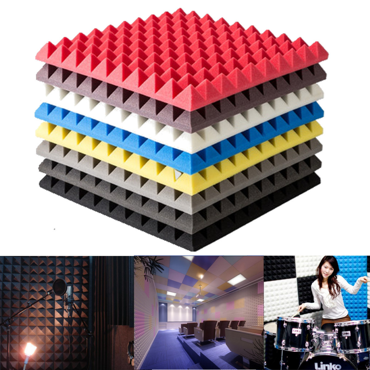 Soundproof Foam Sound Stop Acoustic Absorption For Studio