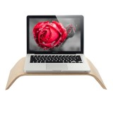 SamDi Artistic Wood Grain Bamboo and Wood Desktop Holder Stand Cradle for Apple Macbook, ASUS, Lenovo