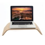 SamDi Artistic Wood Grain White Birch Desktop Holder Stand Cradle for Apple Macbook, ASUS, Lenovo