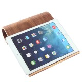 SamDi Artistic Wood Grain Walnut Desktop Heat Radiation Holder Stand Cradle for iPad, Tablet, Notebook (Coffee)