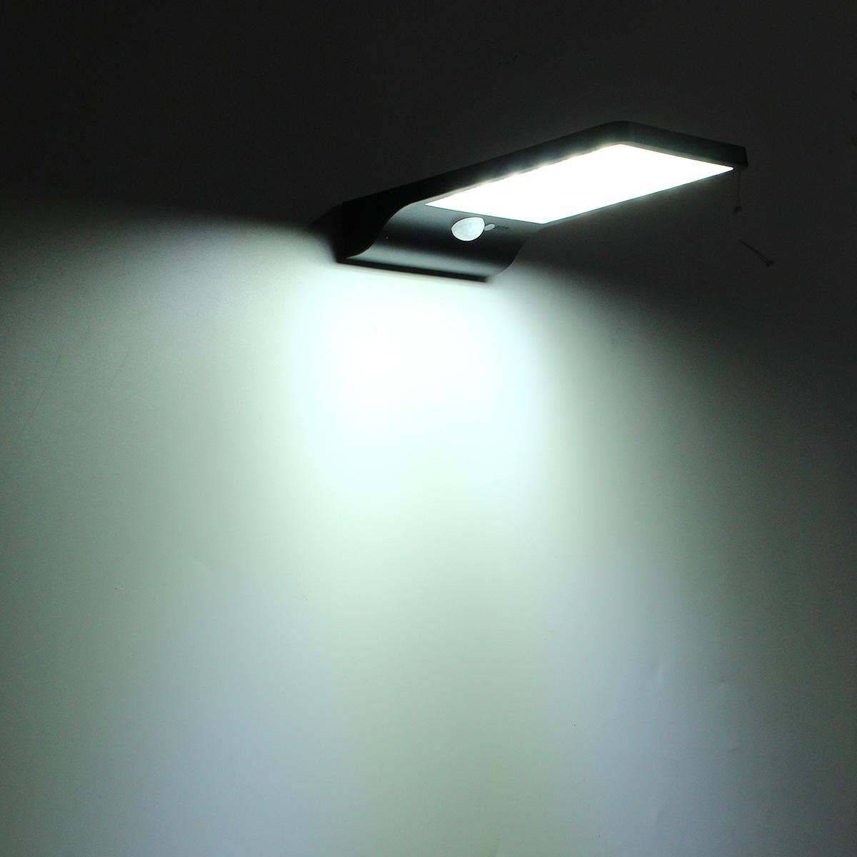 36LED Solar Power PIR Motion Sensor Wall Light Outdoor Waterproof ...