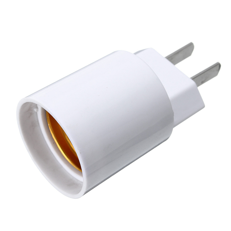 E27 Light Socket To Eu Us Plug Holder Adapter Converter