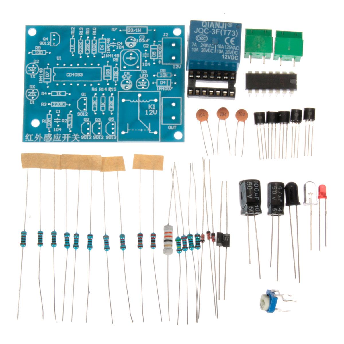 Diy Ir Infrared Sensor Module Switch Electronic Kit How To Build Detector Circuit Diagram