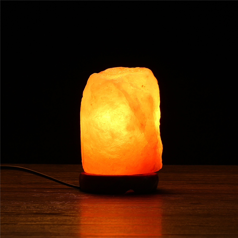 14x10CM Natural Himalayan Ionic Air Purifier Rock Crystal Salt Lamp Table Night Light Alex NLD