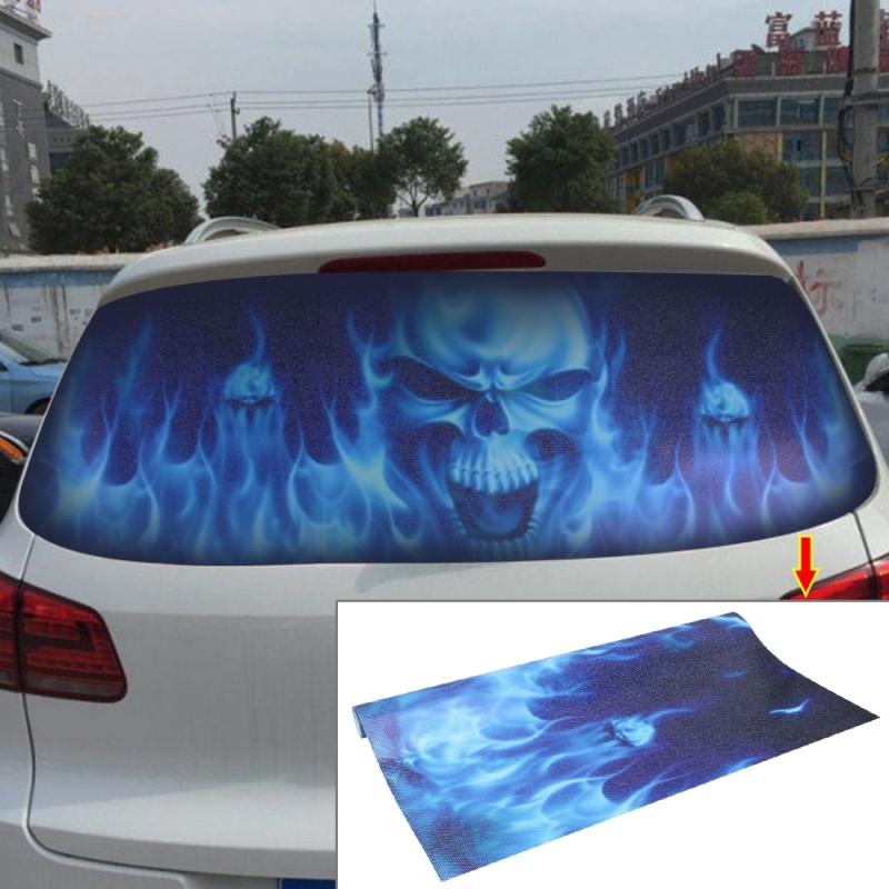 Garland Design Car Sticker Decal Waterproof Backup Window Ghost Rider Styling 3D Emblem External Side Personalized
