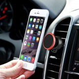 360 Degree Rotatable Universal Non Magnetic Nanometer Micro-suction Car Air Vent Phone Holder Stand for 3.5 – 5.5 inch Mobile Phones (Red)