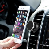 360 Degree Rotatable Universal Non Magnetic Nanometer Micro-suction Car Air Vent Phone Holder Stand for 3.5 – 5.5 inch Mobile Phones (Silver)