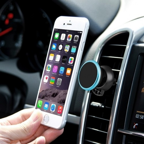 360 Degree Rotatable Universal Non Magnetic Nanometer Micro-suction Car Air Vent Phone Holder Stand for 3.5 - 5.5 inch Mobile Phones (Blue)