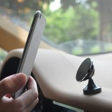 360 Degree Rotatable Universal Non Magnetic Nanometer Micro-suction Car Bottom Sticker Phone Holder Stand for 3.5 – 5.5 inch Mobile Phones (Black)