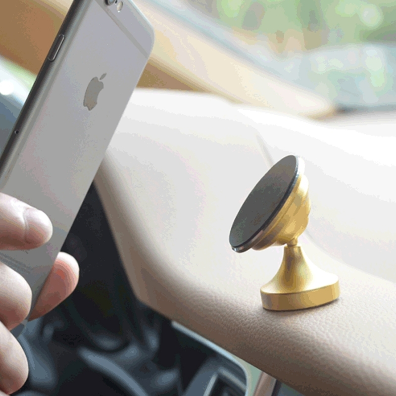 360 Degree Rotatable Universal Non Magnetic Nanometer Micro-suction Car Bottom Sticker Phone Holder Stand for 3.5 - 5.5 inch Mobile Phones (Gold)