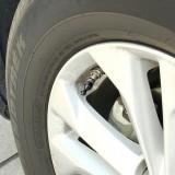 4 PCS Universal Bowling Ball Shape Car Motor Bicycle Tire Valve Caps (Black)
