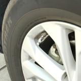 4 PCS Universal Bowling Ball Shape Car Motor Bicycle Tire Valve Caps (Silver)