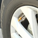 4 PCS Universal Bowling Ball Shape Car Motor Bicycle Tire Valve Caps (Gold)