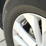 4 PCS Universal Barrel Shape Car Motor Bicycle Tire Valve Caps (Silver)