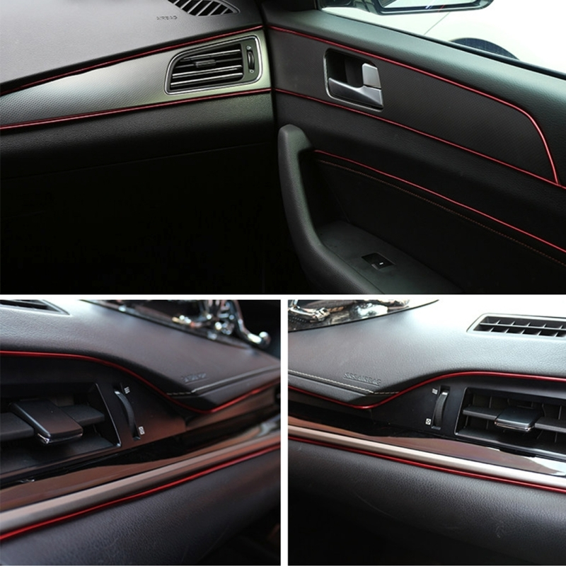5m flexible trim for diy automobile car interior moulding trim decorative line strip with film. Black Bedroom Furniture Sets. Home Design Ideas