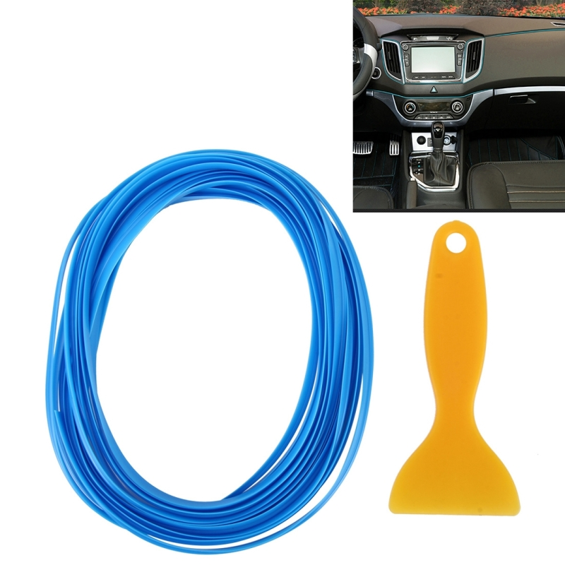 Dark Blue Chiste 5 Meter DIY Car Interior Exterior Flexible Decoration Moulding Trim Strip Line