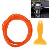5M Flexible Trim For DIY Automobile Car Interior Moulding Trim Decorative Line Strip with Film Scraper (Orange)