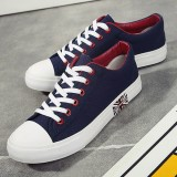 Men Canvas Fashion Casual Outdoor Sport Running Flat Lace Up Athletic Shoes