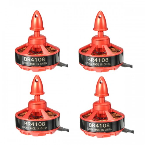 4X Racerstar Racing Edition 4108 BR4108 600KV 4-6S Brushless Motor For 500 550 600 RC Frame Kit