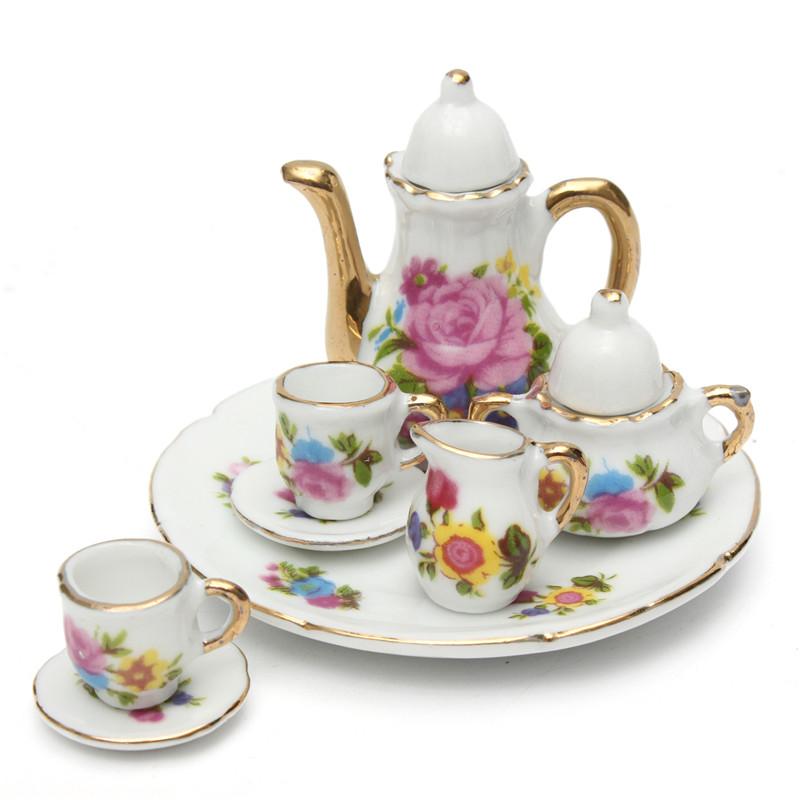 Pink Ceramic Tea Dolls House Miniature Handmade Cup Of Coffee