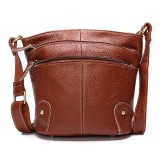 Women Genuine Leather Bucket Bag Tribal Shoulder Bag Satchel Handbag