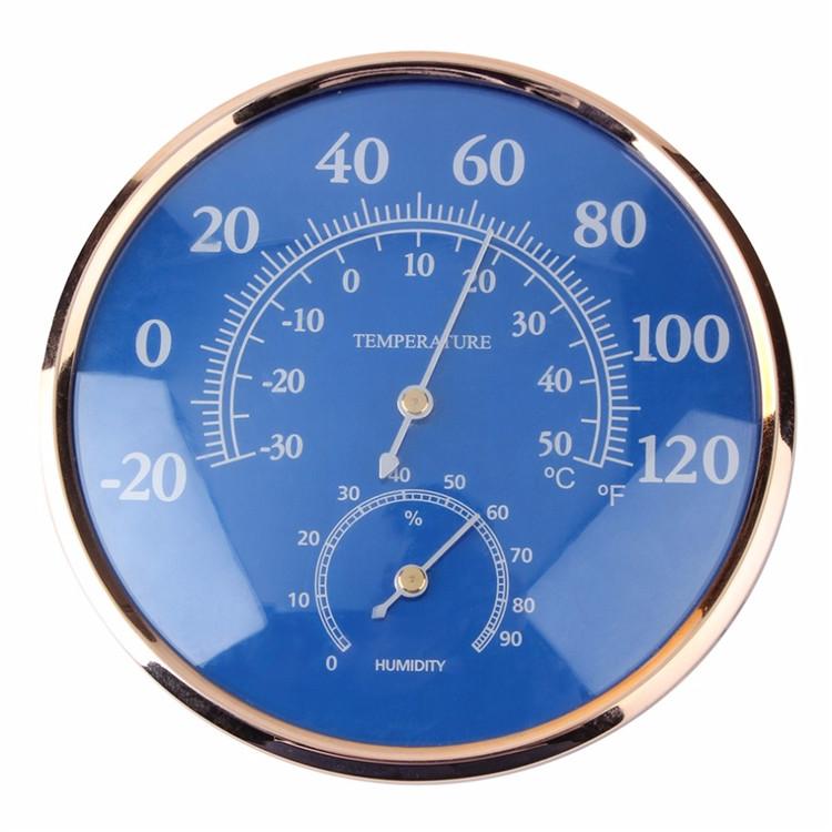 Large Round Fahrenheit Celsius Thermometer Hygrometer