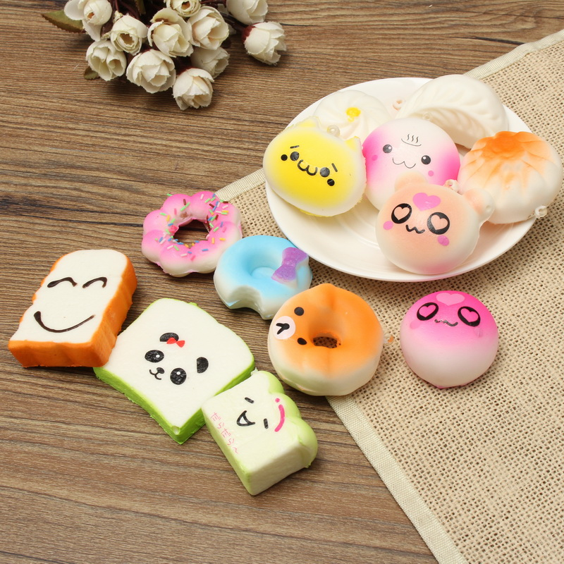 Squishy Toy Collection : 13PCS Simulation Cute Soft Squishy Super Slow Rising Ballchain Kid Toy Collection Alex NLD