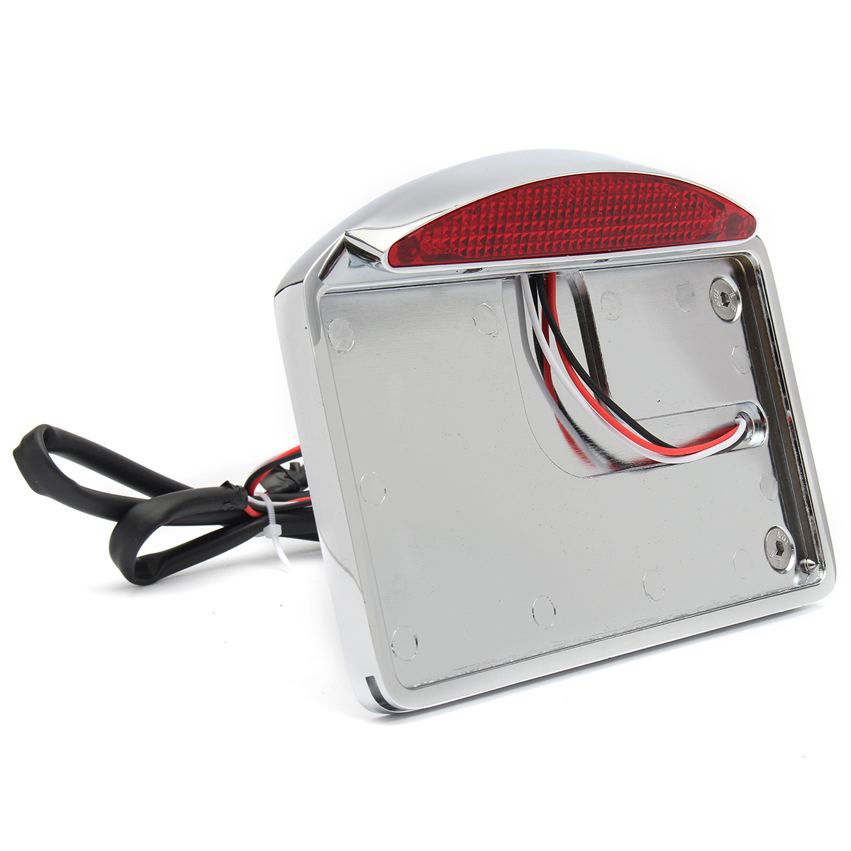 Motorcycle License Plate Led Tail Light Horizontal Side