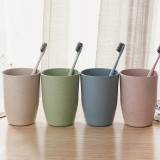 4 Colors Bathroom Wheat Straw Tooth Brush Holder Cup Wash Gargle Suit Bathroom Accessories