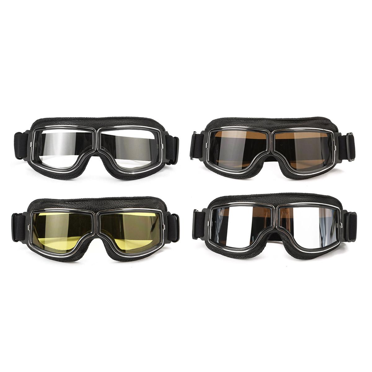helmet leather goggles anti uv protective glasses eyewear