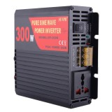 SUVPR DY-LG300S 300W DC 12V to AC 220V Pure Sine Wave Car Power Inverter with Universal Power Socket