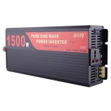 SUVPR DY-LG1500S 1500W DC 24V to AC 220V Pure Sine Wave Car Power Inverter with Universal Power Socket