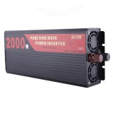 SUVPR DY-LG2000S 2000W DC 24V to AC 220V Pure Sine Wave Car Power Inverter with Universal Power Socket