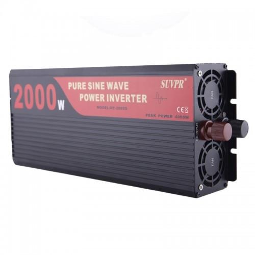 suvpr dy lg2000s 2000w dc 24v to ac 220v pure sine wave car power inverter with universal power. Black Bedroom Furniture Sets. Home Design Ideas