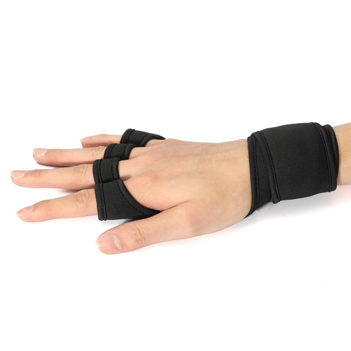 Hand Wrap Gloves Fitness Weight Lifting Gloves Dumbbell Wrist Half Finger Hand