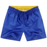 Mens Summer Casual Beach Shorts Solid Color Elastic Waist Loose Sport Shorts