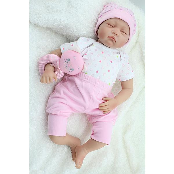 5beff156199f 22inch Reborn Baby Doll Silicone Handmade Lifelike Baby Play House ...