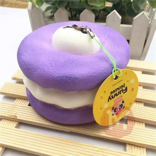 Squishy Macaroon 10cm Slow Rising Dessert Sweet Collection Phone Bag Strap Decor Gift Toy