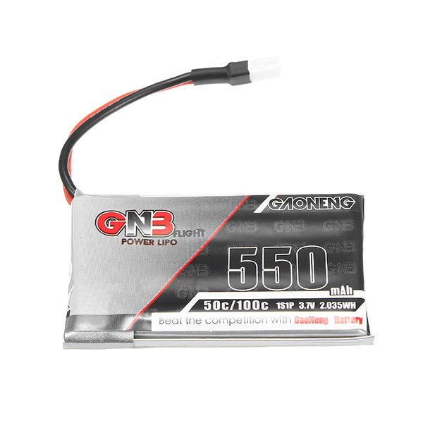 Gaoneng GNB 3.7V 550mAh 50C Lipo Battery White Plug