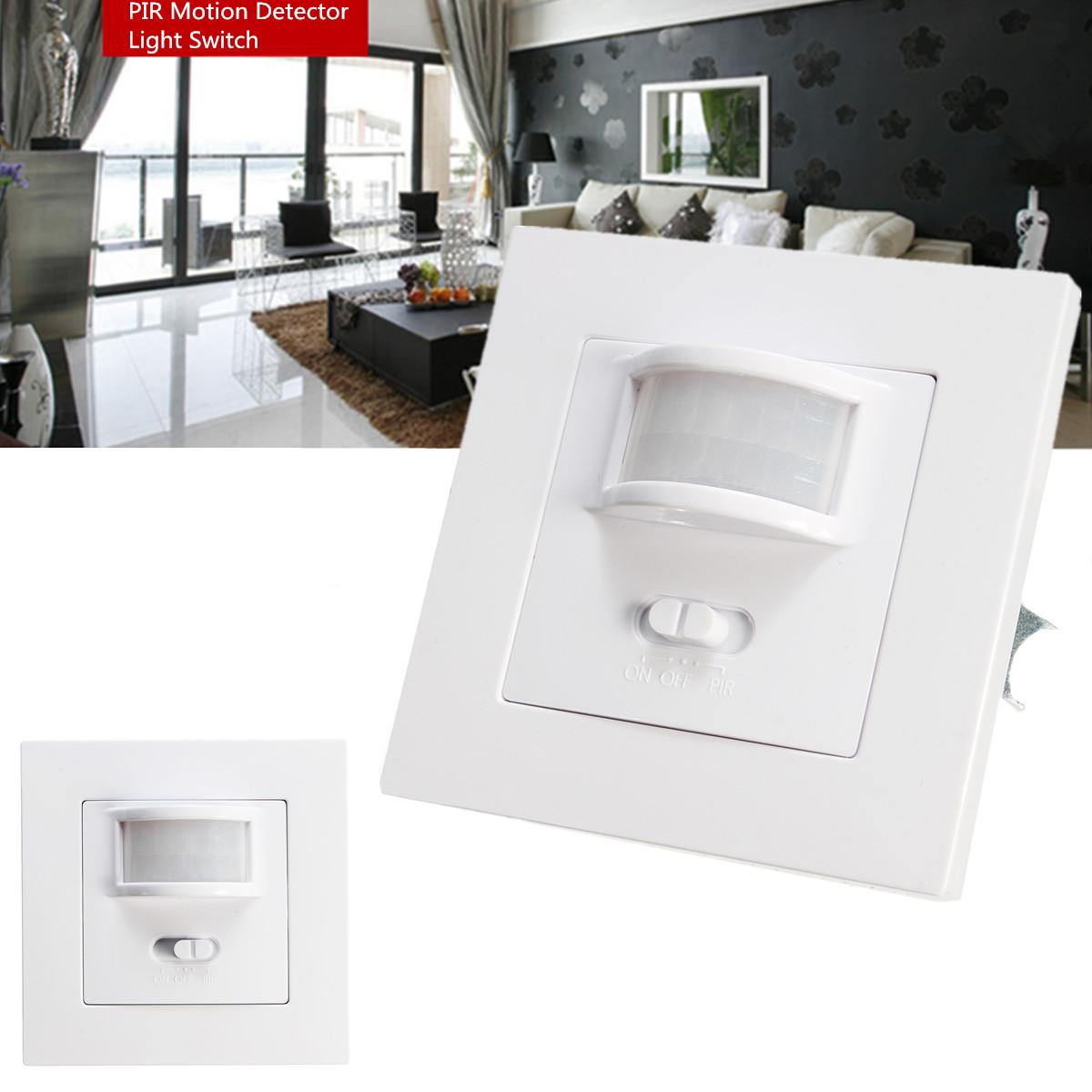 140 Degree Infrared PIR Motion Sensor Recessed Wall Lamp Bulb LED ...