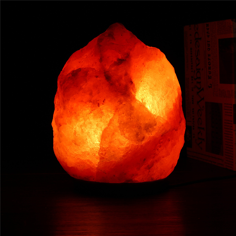 Salt Lamps Are Bad : 30x18CM Natural Himalayan Ionic Air Purifier Rock Crystal Salt Lamp Table Night Light Alex NLD