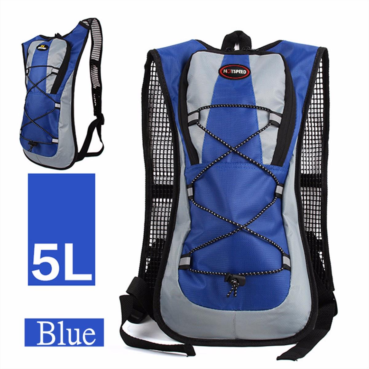 5L Running Hydration Backpack Rucksack 2L Straw Water Bladder Bag ...