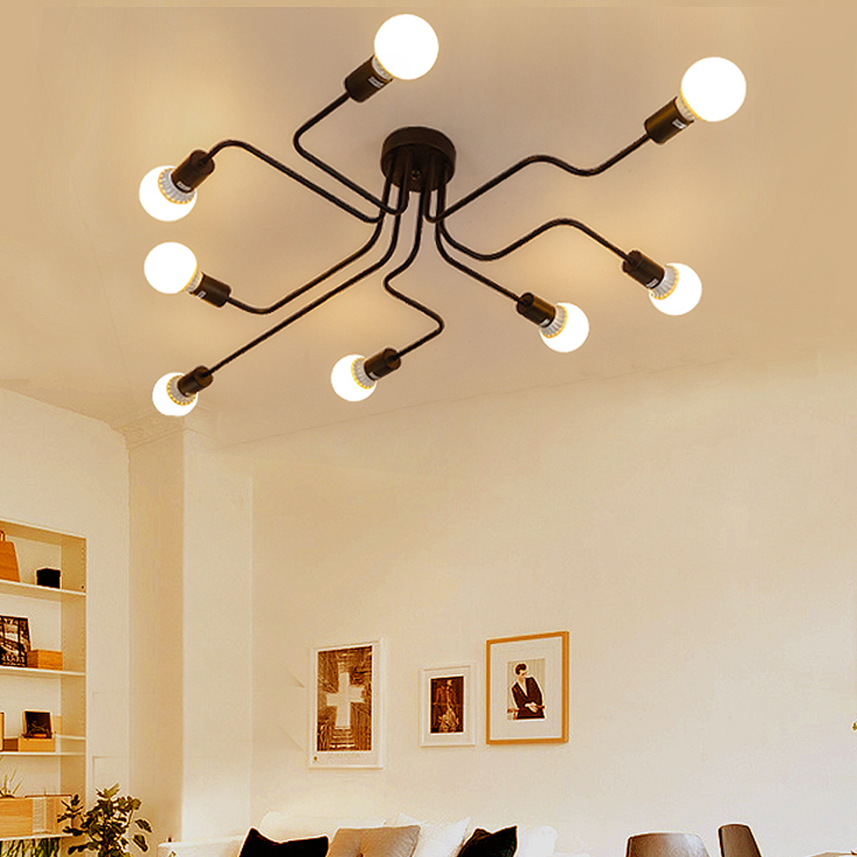 Vintage chandelier lighting fixtures chandelier designs 8 heads vintage home restaurant ceiling chandelier light arubaitofo Choice Image