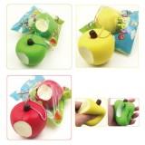 Sanqi Elan Simulation Cute Apple Soft Squishy Super Slow Rising Ballchain Kid Toy With Original Packaging