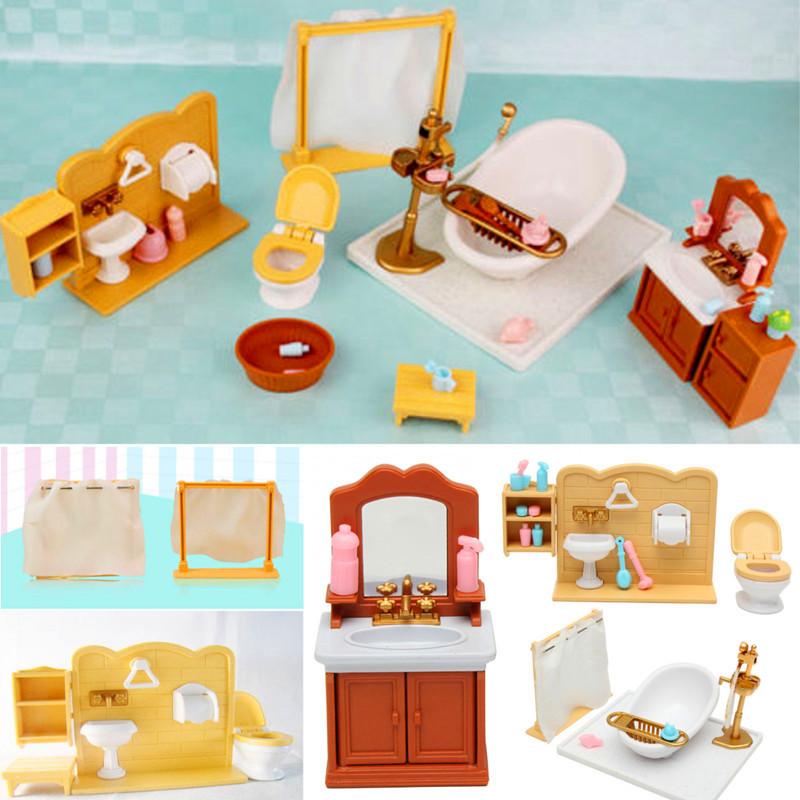 Diy Miniatures Bedroom Bathroom Furniture Sets For